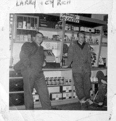 B & A Service Station, April 1955