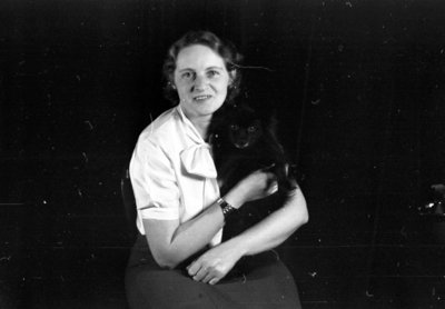 Unidentified Woman and Dog, 1937