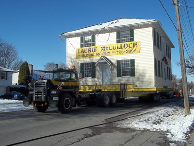 Relocation of the Jabez Lynde House, November 2013