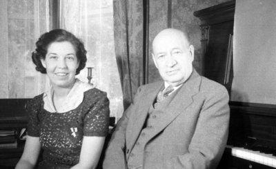 Unidentified Woman and Judge Robert Ruddy, c.1936
