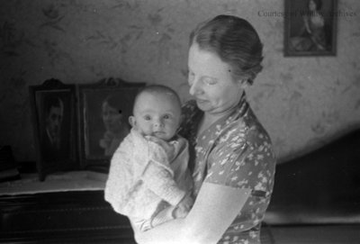 Unidentified Woman and Baby, c.1935