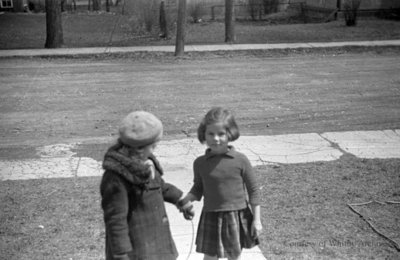 Marion Rowe and an Unidentified Child, October 1937