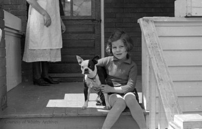 Unidentified Child and Dog, October 1937