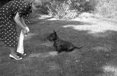 Miss. Phillip and Dog, c.1937
