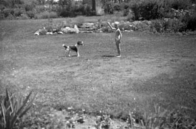 Unidentified Child and Dog, c.1937