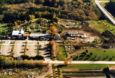 Aerial View of Cullen Gardens and Miniature Village, October 1986