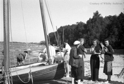 Sailing on Lake Ontario, c.1936