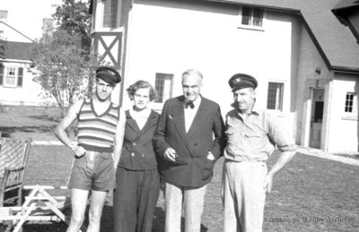 Yacht Race Winners and Host, 1936
