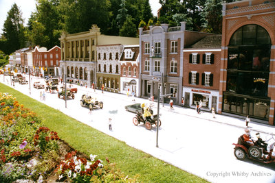 Main Street in the Miniature Village