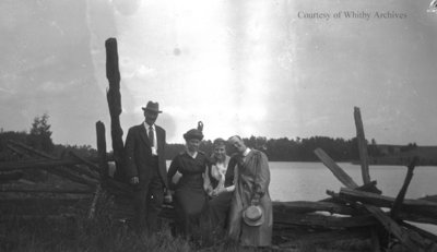 Unidentified Group at the Lake, c.1915