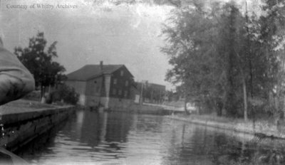 River and Buildings, c.1915