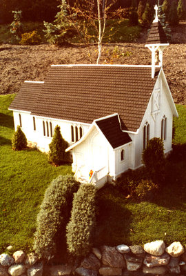 White Clapboard Church in the Miniature Village