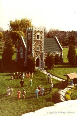 Stone Church in the Miniature Village