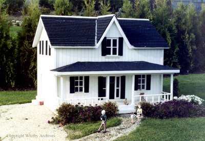 White Clapboard House in the Miniature Village
