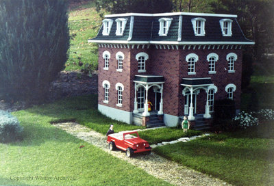 Red Brick House in the Miniature Village