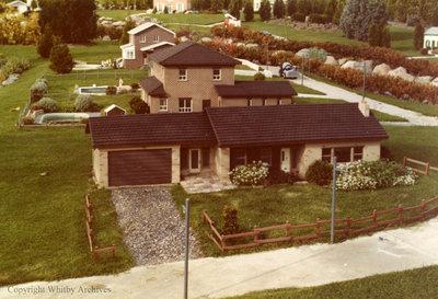 Beige Brick Residence in the Miniature Village