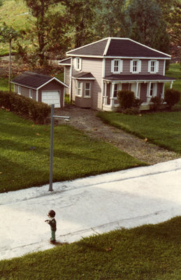 Grey Clapboard Residence in the Miniature Village