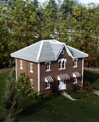 Brown Brick Residence in the Miniature Village