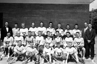 "Whitby Red Wings Junior ""A"" Lacrosse Team, 1960"