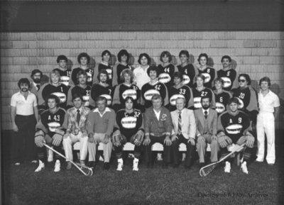 "Whitby Builders Junior ""A"" Lacrosse Team, 1980"