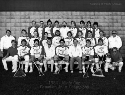 "Whitby Warriors Junior ""A"" Lacrosse Team, 1984"