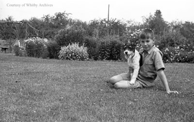 Unidentified Child and Dog, c.1936
