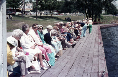 Passengers for the Thousand Islands Boat Tour, June 1976