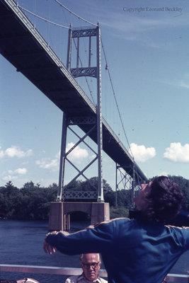 Bridge Over the St. Lawrence River, June 1976