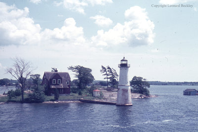 Lighthouse on the St. Lawrence River, June 1976
