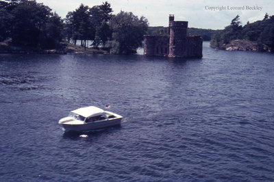 Powerhouse at Boldt Castle on the St. Lawrence River, June 1976