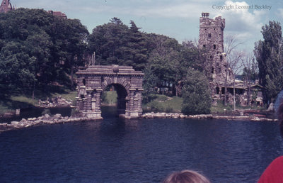 Entry Arch at Boldt Castle on the St. Lawrence River, June 1976