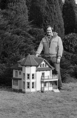 Owen Hachey in the Miniature Village