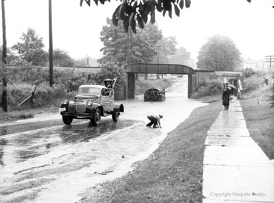 Bell Telephone Truck at Subway Flood, July 17, 1951