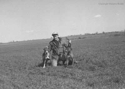 Unidentified Man and Dogs, May 7, 1950