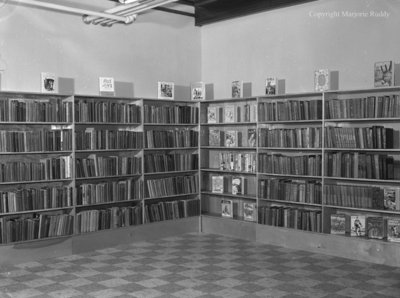 Children's Section at Carnegie Library, March 18, 1954
