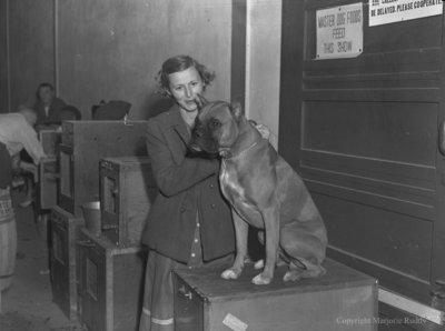 Mrs. MacKendrick and Boxer, September 2, 1949