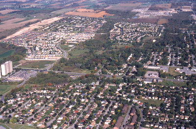 Aerial View of Whitby looking North, October 7, 1998