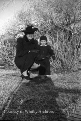Unidentified Woman and Child, c.1940s