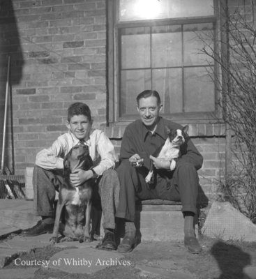 MacLeod Family and Dogs, April 1945