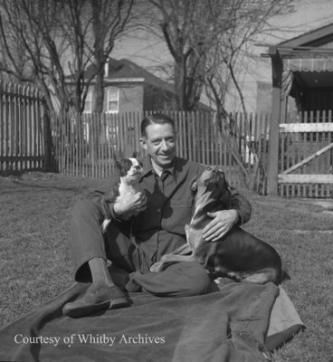 Mr. MacLeod and Dogs, April 1945