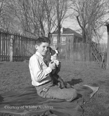MacLeod Child and Dog, April 1945
