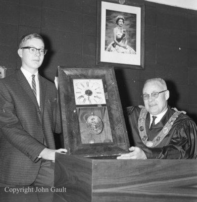 Donation of Canada Clock, December 13, 1963