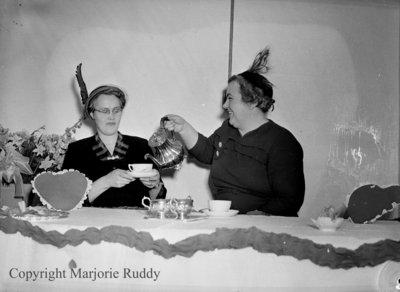 Unidentified Women Having Tea, c.1952