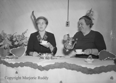 Unidentified Women Having Tea, c.1952