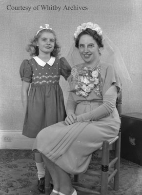 Mrs. Murdock and Unidentified Girl, November 29, 1947