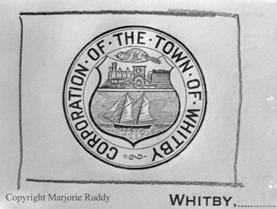 Town of Whitby Crest, March 8, 1952