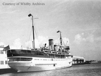 Ship in Miami Harbour, February 15, 1939