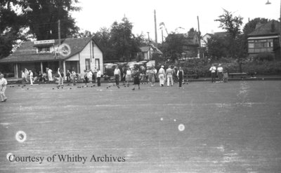 Whitby Lawn Bowling and Tennis Club c.1937