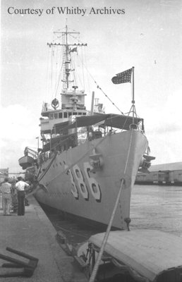 Destroyer in Miami Harbour, February 15, 1939