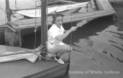 Eileen McBride Yachting, August 1939